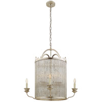 Visual Comfort Niermann Weeks Sophie 8 Light 30-inch Chandelier in Burnished Silver Leaf, Large NW5026BSL