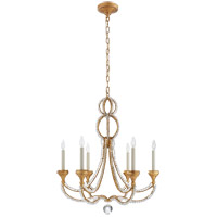 Visual Comfort NW5030VG Niermann Weeks Milan 6 Light 29 inch Venetian Gold Chandelier Ceiling Light, Niermann Weeks, Medium, Clear Crystal