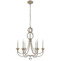 Niermann Weeks Milan 6 Light 29 inch Venetian Silver Chandelier Ceiling Light, Niermann Weeks, Medium, Clear Crystal