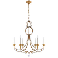 Visual Comfort NW5031VG Niermann Weeks Milan 6 Light 38 inch Venetian Gold Chandelier Ceiling Light, Niermann Weeks, Large, Clear Crystal