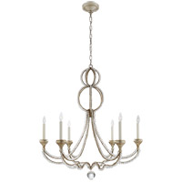 Niermann Weeks Milan 6 Light 38 inch Venetian Silver Chandelier Ceiling Light, Niermann Weeks, Large, Clear Crystal