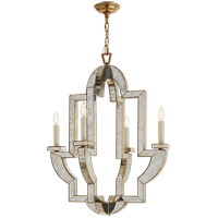 Visual Comfort Niermann Weeks Lido 4 Light 26-inch Chandelier in Antique Mirror, Medium NW5040AM/HAB