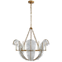 Niermann Weeks Calais 6 Light 34 inch Gilded Iron Chandelier Ceiling Light, Niermann Weeks