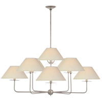 Visual Comfort NW5070BSL-L Niermann Weeks Kelley 9 Light 44 inch Burnished Silver Leaf Chandelier Ceiling Light, Large
