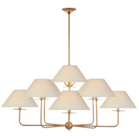 Visual Comfort NW5070GI-L Niermann Weeks Kelley 9 Light 44 inch Gilded Iron Chandelier Ceiling Light, Large