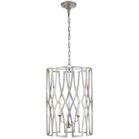 Visual Comfort Niermann Weeks Brittany 3 Light 18-inch Foyer Lantern in Venetian Silver, Medium NW5111VS