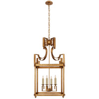 Niermann Weeks Severn 4 Light 17 inch Gilded Iron Foyer Lantern Ceiling Light
