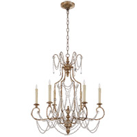 Visual Comfort NW5155FLS Niermann Weeks Lucia 6 Light 30 inch Flemish Silver Chandelier Ceiling Light