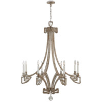Niermann Weeks Gallina 6 Light 39 inch Antique Silver Leaf Chandelier Ceiling Light, Medium