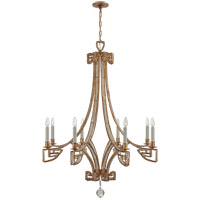 Niermann Weeks Gallina 6 Light 39 inch Gilded Iron Chandelier Ceiling Light, Medium