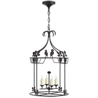 Niermann Weeks Luciano 4 Light 18 inch Aged Iron Lantern Pendant Ceiling Light, Medium Round