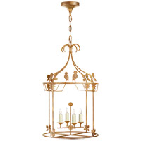 Visual Comfort NW5205GI Niermann Weeks Luciano 4 Light 18 inch Gilded Iron Lantern Pendant Ceiling Light, Medium Round