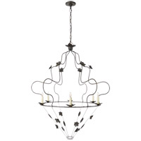Visual Comfort NW5210AI Niermann Weeks Arundel 6 Light 40 inch Aged Iron Chandelier Ceiling Light Grande Ornate