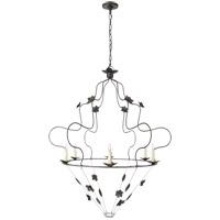Visual Comfort NW5210AI Niermann Weeks Arundel 6 Light 40 inch Aged Iron Chandelier Ceiling Light, Grande Ornate