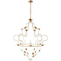 Visual Comfort NW5210GI Niermann Weeks Arundel 6 Light 40 inch Gilded Iron Chandelier Ceiling Light, Grande Ornate