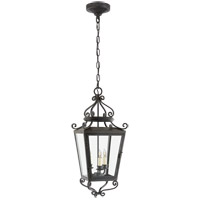 Niermann Weeks Lafayette 3 Light 11 inch French Rust Outdoor Hanging Lantern, Medium