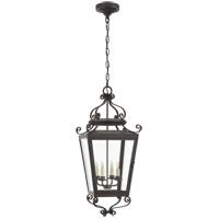 Visual Comfort NW5704FR-CG Niermann Weeks Lafayette 4 Light 14 inch French Rust Outdoor Hanging Lantern Large