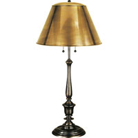 Visual Comfort Studio New York Public Library 2 Light Decorative Table Lamp in Bronze with Wax NYPL1