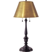 Visual Comfort Studio New York Public Library 2 Light Decorative Table Lamp in Bronze with Wax NYPL2
