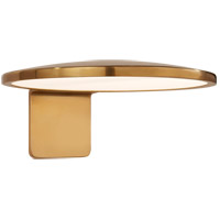 Visual Comfort PB2000NB Peter Bristol Dot LED 6 inch Natural Brass Outdoor Wall Light