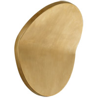 Peter Bristol Bend LED 12 inch Natural Brass Outdoor Wall Light, Large Round