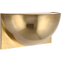 Peter Bristol Quarter Sphere LED 10 inch Natural Brass Up Light Wall Light, Small