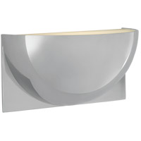 Peter Bristol Quarter Sphere LED 10 inch Polished Nickel Up Light Wall Light, Small