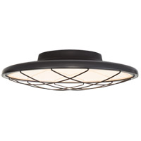 Visual Comfort Peter Bristol Dot LED 14 inch Matte Black Flush Mount Ceiling Light, Caged PB4001MBK - Open Box