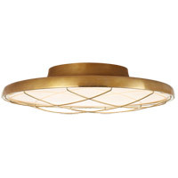Visual Comfort PB4001NB Peter Bristol Dot LED 14 inch Natural Brass Flush Mount Ceiling Light Caged