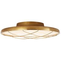 Visual Comfort PB4001NB Peter Bristol Dot LED 14 inch Natural Brass Flush Mount Ceiling Light Caged