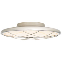 Peter Bristol Dot LED 14 inch Polished Nickel Flush Mount Ceiling Light, Caged