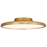 Visual Comfort PB4003NB Peter Bristol Dot LED 17 inch Natural Brass Flush Mount Ceiling Light