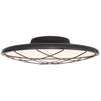 Peter Bristol Dot LED 17 inch Matte Black Flush Mount Ceiling Light, Caged
