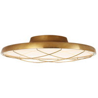 Visual Comfort PB4004NB Peter Bristol Dot LED 17 inch Natural Brass Flush Mount Ceiling Light, Caged