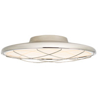 Peter Bristol Dot LED 17 inch Polished Nickel Flush Mount Ceiling Light, Caged
