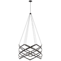 Peter Bristol Interlace LED 9 inch Matte Black Chandelier Ceiling Light