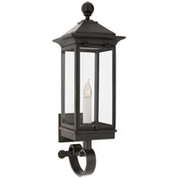 Visual Comfort RC2011FR-CG Rudolph Colby Rosedale 1 Light 28 inch French Rust Outdoor Bracketed Wall Lantern, Petite
