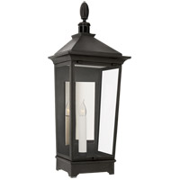 Visual Comfort RC2026FR-CG Rudolph Colby Rosedale Classic 1 Light 30 inch French Rust Outdoor Wall Lantern, Small Tall