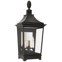 Visual Comfort RC2027FR-CG Rudolph Colby Rosedale Classic 2 Light 33 inch French Rust Outdoor Wall Lantern Medium