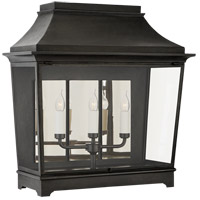 Visual Comfort RC2033FR-CG Rudolph Colby Rosedale Classic 3 Light 26 inch French Rust Outdoor Wall Lantern Wide