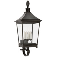 Visual Comfort RC2040FR-CG Rudolph Colby Rosedale Classic 4 Light 46 inch French Rust Outdoor Bracketed Wall Lantern Large