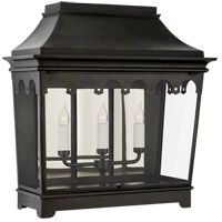 Visual Comfort RC2045FR-CG Rudolph Colby Rosedale Grand 3 Light 26 inch French Rust Outdoor Wall Lantern Wide