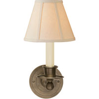 Visual Comfort S2001AN-L Studio Classic 1 Light 6 inch Antique Nickel Decorative Wall Light in Linen
