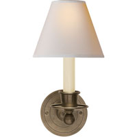 Visual Comfort S2001AN-NP Studio Classic 1 Light 6 inch Antique Nickel Decorative Wall Light in Natural Paper