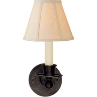 Visual Comfort Studio Classic 1 Light Decorative Wall Light in Bronze with Wax S2001BZ-L