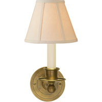 Visual Comfort S2001HAB-L Studio Classic 1 Light 6 inch Hand-Rubbed Antique Brass Decorative Wall Light in Linen