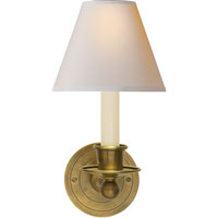 Visual Comfort S2001HAB-NP Studio Classic 1 Light 6 inch Hand-Rubbed Antique Brass Decorative Wall Light in Natural Paper