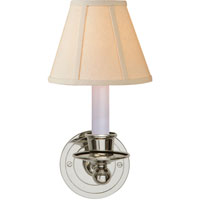Visual Comfort S2001PN-L Studio Classic 1 Light 6 inch Polished Nickel Decorative Wall Light in Linen