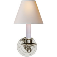 Visual Comfort Studio Classic 1 Light Decorative Wall Light in Polished Nickel S2001PN-NP