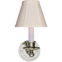 Visual Comfort Studio Classic 1 Light Decorative Wall Light in Polished Nickel S2001PN-T